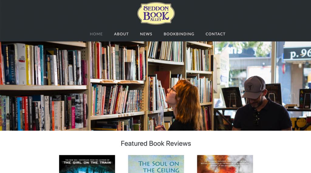 Seddon Book Alley website