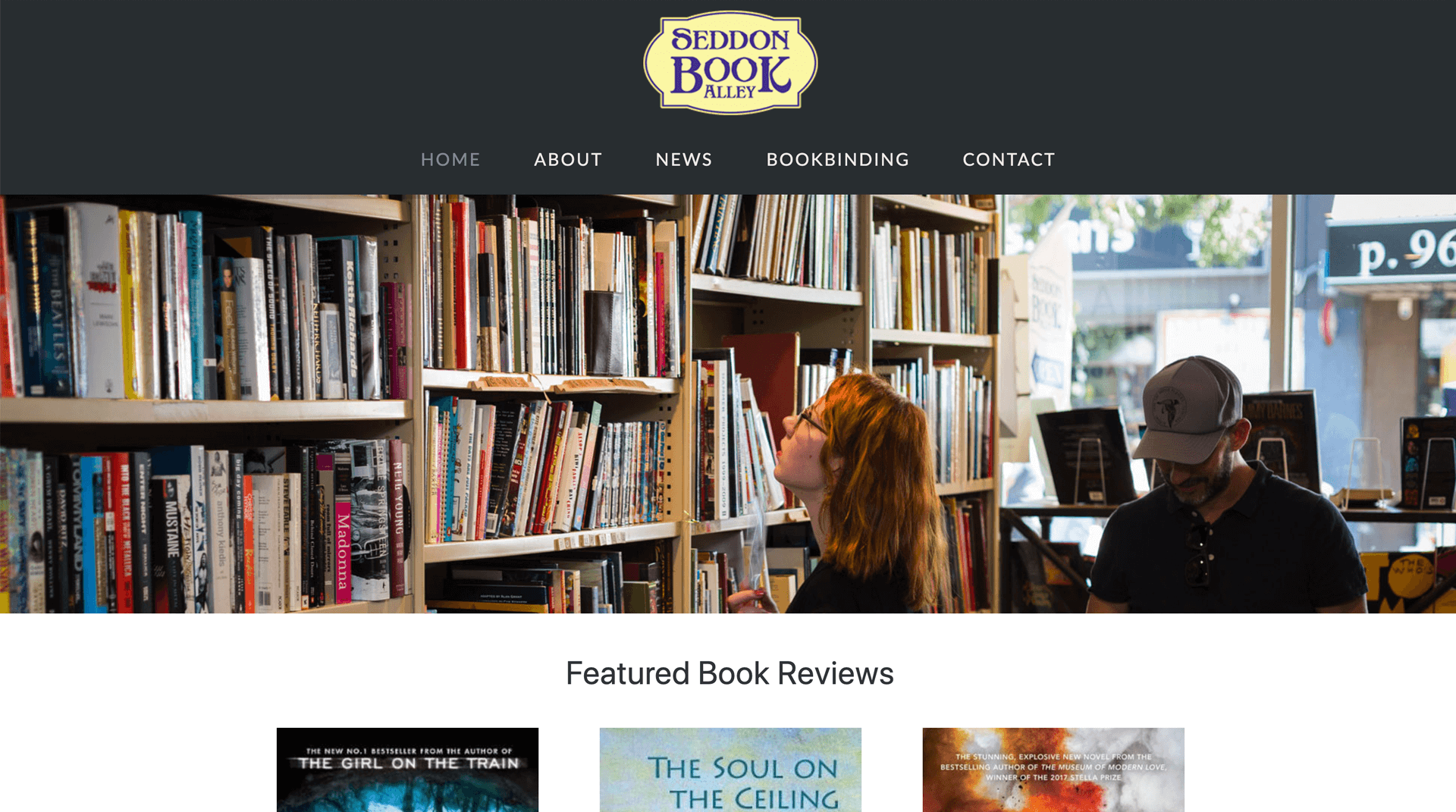 Seddon Book Alley website Design - Design Grid
