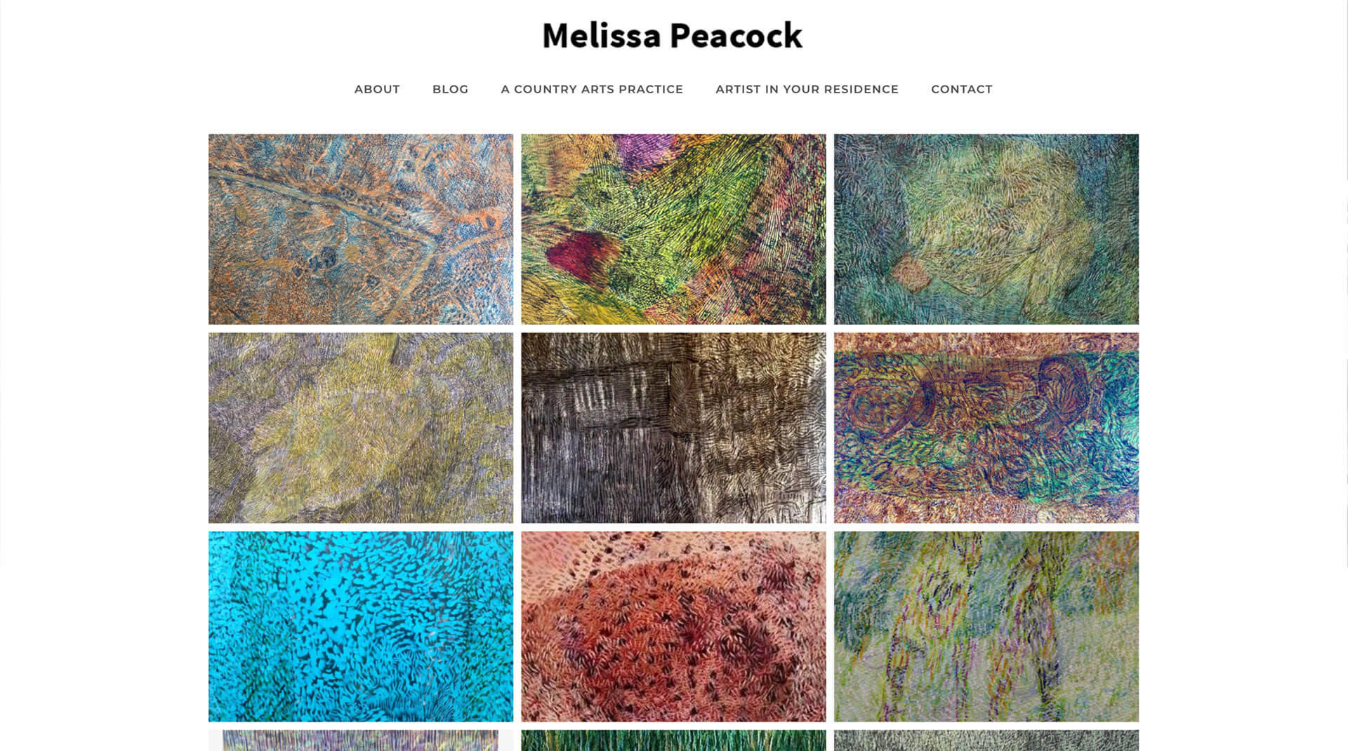 Client Melissa Peacock Website Design