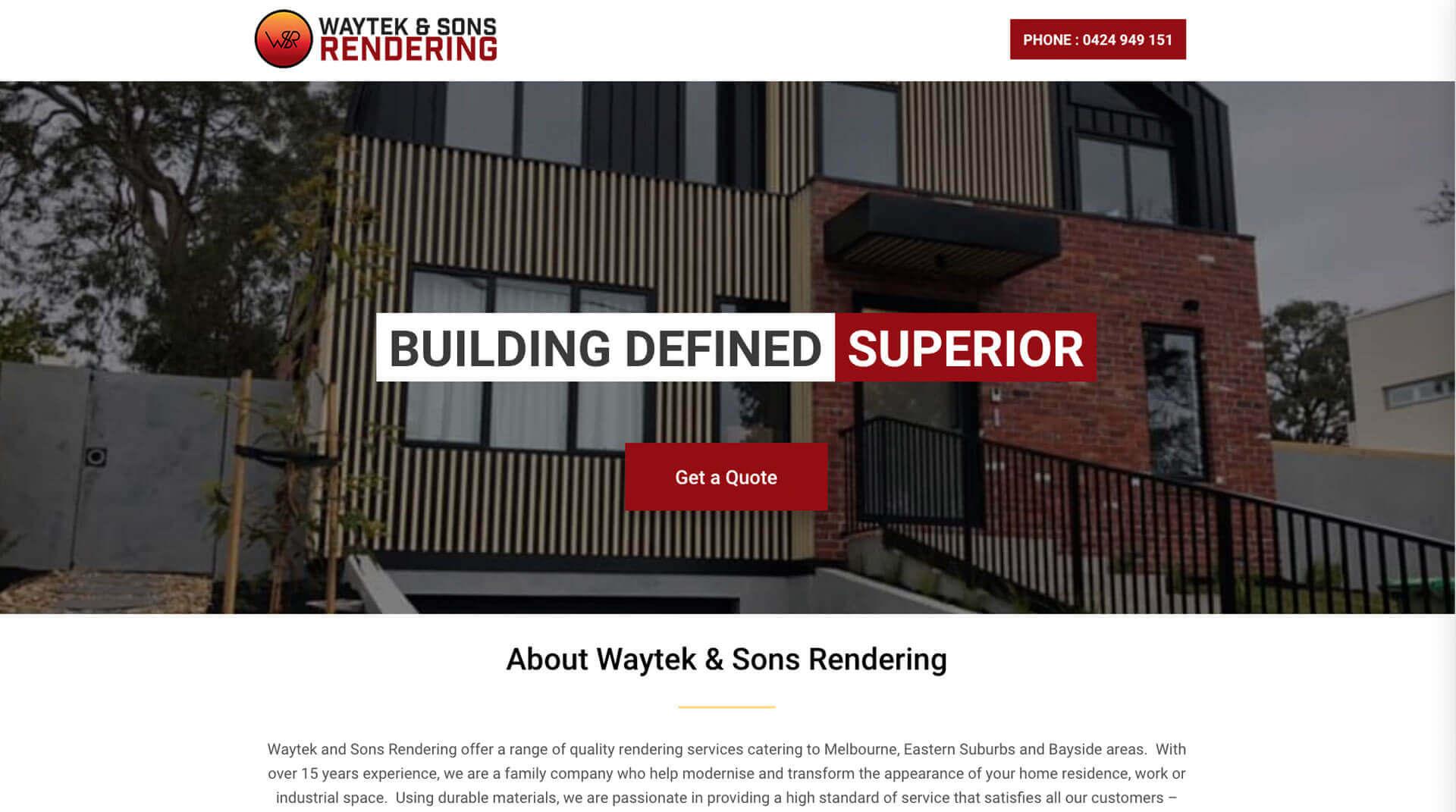 Waytek & Sons Rendering - Tradie Package