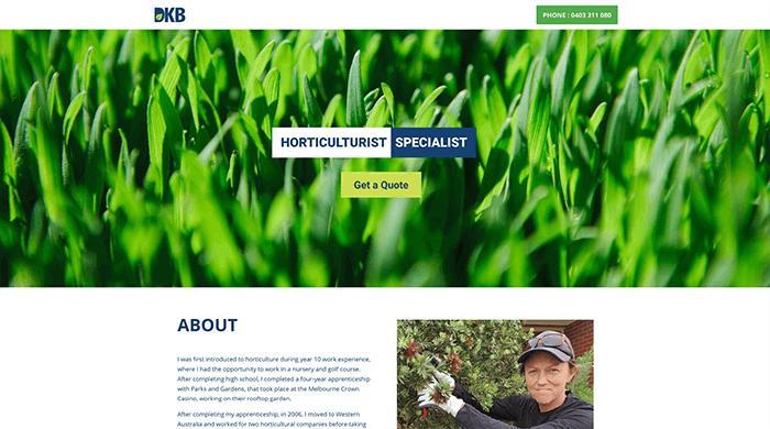 Client horticulture website | Design Gird