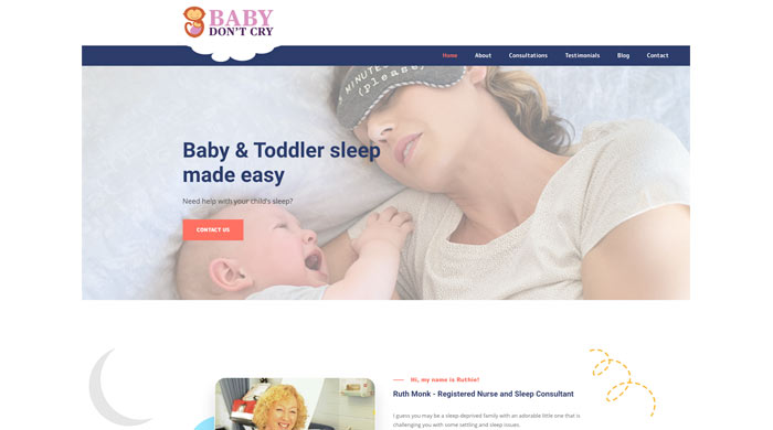 Baby Consultant website- Baby don't cry